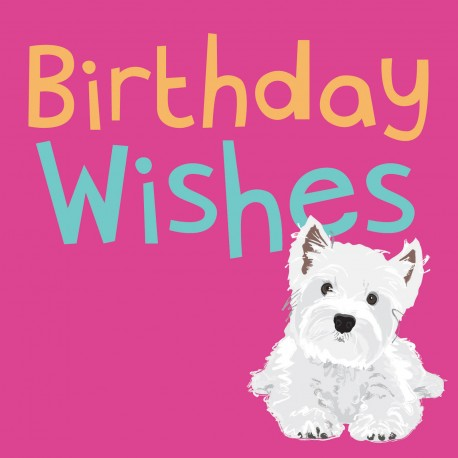 Westie Birthday Card Dogs Trust West Highland White Terrier
