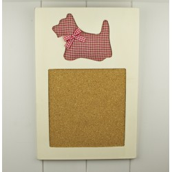 Westie Small Cork Noticeboard- West Highland White Terrier Dog
