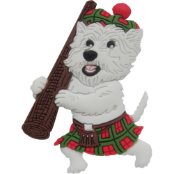 Kilt Westie 3D Keyring West Highland White Terrier Dog