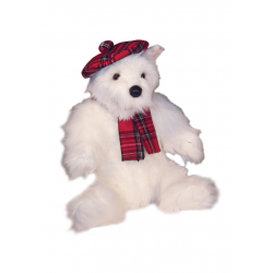 "Tartan Westie Large Westie Soft Toy 16"" - West Highland White Terrier"