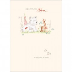 Friends From Bluebell Wood Card - Westie & Friend
