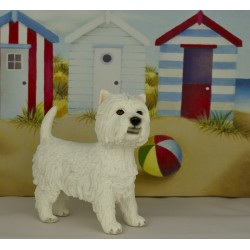 Westie Figurine - West Highland White Terrier Dog