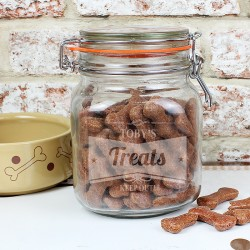 Personalised Retro Label Glass Treat Jar
