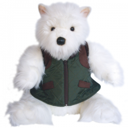 "Large Westie Soft Toy in Gilet 16"" - West Highland White Terrier"