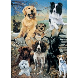 Mixed Dogs the Look Out Jigsaw