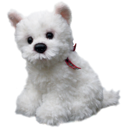 Sitting Westie Soft Toy