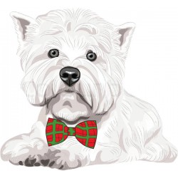 West Highland Terrier Flexible Magnet