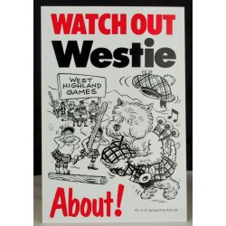 Bagpipe Westie Security Sign