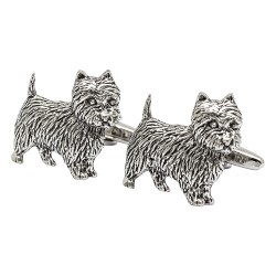 Pewter Westie Cufflinks - West Highland White Terrier Cufflinks