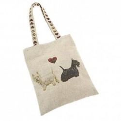 Westie & Scottie Linen Mix Bag