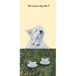 Scruffy Mutts Greeting Card – Coffee & Cake.