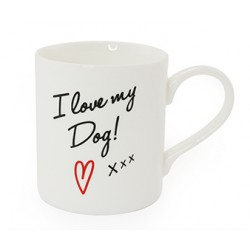 'I Love My Dog' China Mug