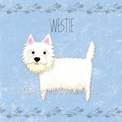 Cute Blue Westie Card