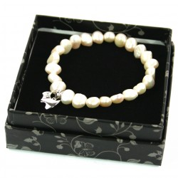Westie 925 Silver and Pearl Bracelet