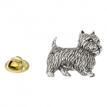 West Highland Terrier Pewter Lapel Pin Badge