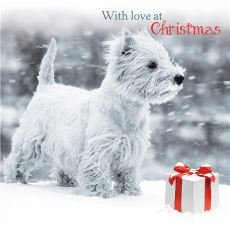 Snowy Westie Christmas Cards | West highland terrier Christmas card