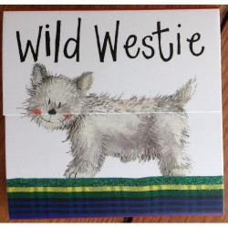 Wild Westie Mini Magnetic Notepad by Alex clark