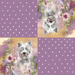 Westie Paper Napkin - 20 Pack by Alex Clark