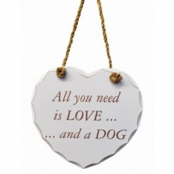 All You Need Is Love Dog Plaque