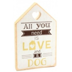 Love and Dog House Plaque