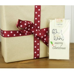 Fluffy Westie Christmas Gift Tag by Penny Lindop - pack of 6