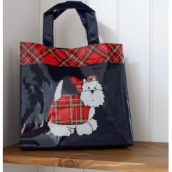Tartan Terrier Mini Shopping Bag