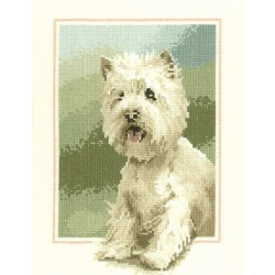 Westie Portrait Cross Stitch Kit