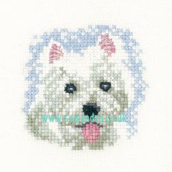 Westie Puppy Coaster Cross Stitch Kit - Little Friends