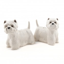 Standing Westies China Salt and Pepper Set