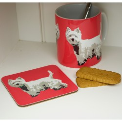 Betty Boyns Westie Mug and Coaster
