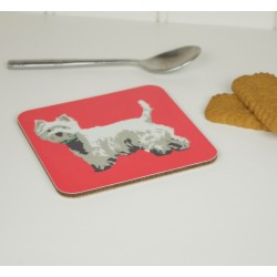 Betty Boyns Westie Coaster