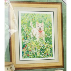 The Scamp Meadow Westie Cross Stitch Kit