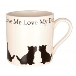 Love Me Love My Dog Sitting Westie Mug - By Victoria Armstrong