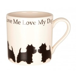 Love Me Love My Dog Standing Westie Mug - By Victoria Armstrong