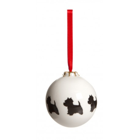 Westie Ceramic Bauble - By Victoria Armstrong