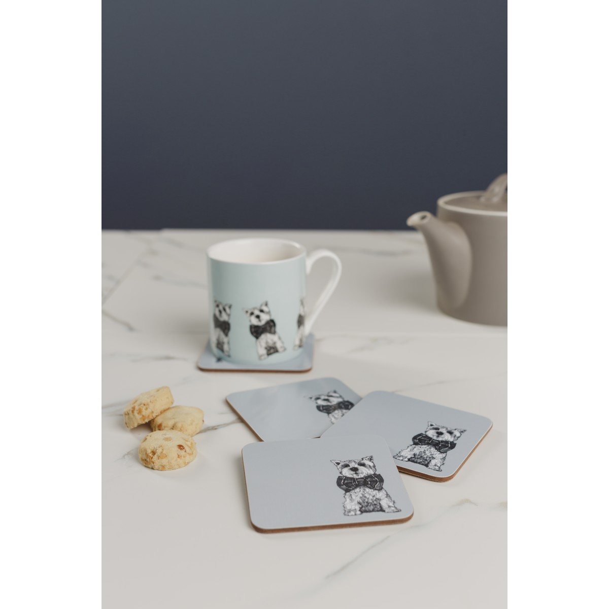 Archie Westie Modern Coasters By Gillian Kyle