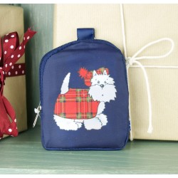 Tartan Terrier Fold-Up Shopping Bag