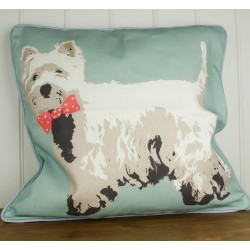 Bow Tie Westie Cushion By Betty Boyns