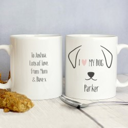 Personalised Dog Features Mug
