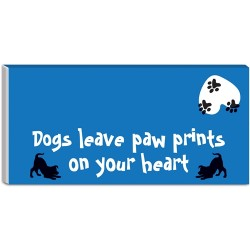 Dogs Leave Paw Prints - Desktop Note Pad