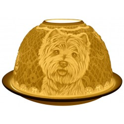 Westie Dog Light-Glow Tealight candle Holder