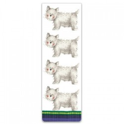 Happy Westie Magnetic Bookmark by Alex Clark