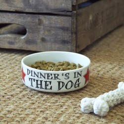 Dinner's in the Dog - Dog Bowl