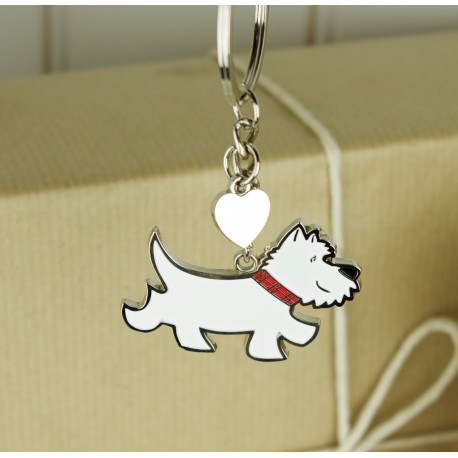 Charlie The Westie Keyring