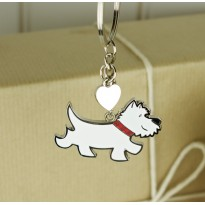 Charlie The Westie Keyring Bag Charm