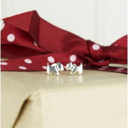 Sterling Silver Westie Stud Earrings