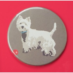 Red Westie Fridge Magnet by Betty Boynes
