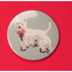 Westie Bow Tie Fridge Magnet by Betty Boyns