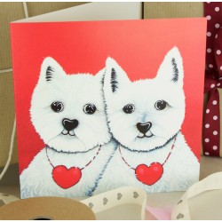 Westies Together Forever Greeting Card