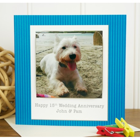 Any Occasion Personalised Westie Coaster Card